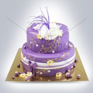 Tort  de cununie Elegant purple