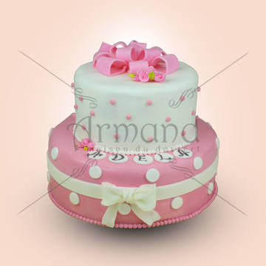 Tort Alb, roz si buline