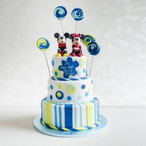 Tort figurine Mickey Mouse si acadele