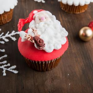 Cupcake-uri Mos Craciun