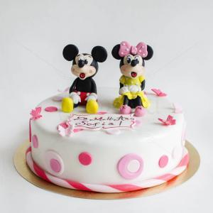 Tort Mickey si Minnie roz