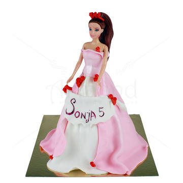 Tort Papusa Barbie satena