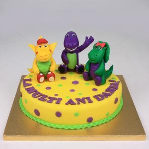 Tort Dinozauri la petrecere