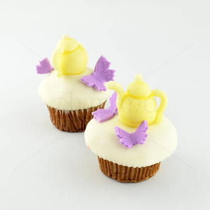 Cupcake Ceainic si fluturasi