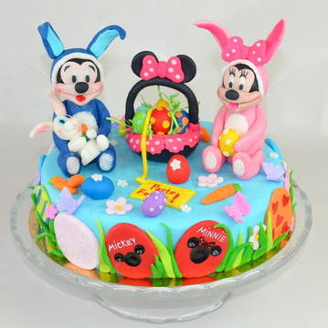 Tort Mickey & Minnie de Paste