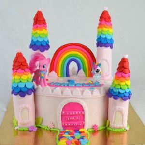 Tort Castel roz si ponei