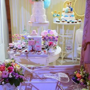 Candy bar Elegant Roz, alb, lila