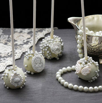 Cake Pops  Luxury Argintii