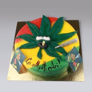 Tort Marijuana in culori Jamaica