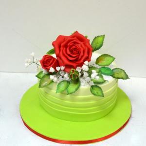 Tort Trandafiri si lacramioare