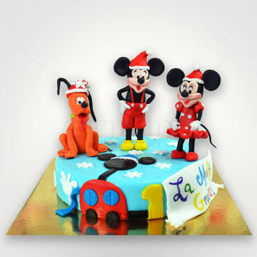 Tort Mickey, Minnie si Pluto