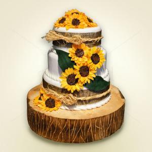 Tort nunta Floarea soarelui