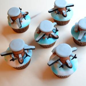 Cupcakes forma avion