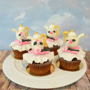 Cupcake ceainic colorat