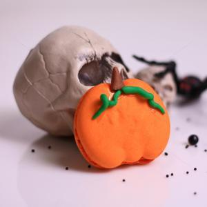 Macaron dovleac mare Halloween