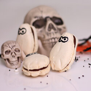 Macaron fantoma Halloween
