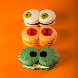 Colectie Macarons ochi mari Halloween