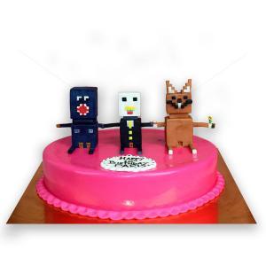 Tort Figurine pixelate Minecraft