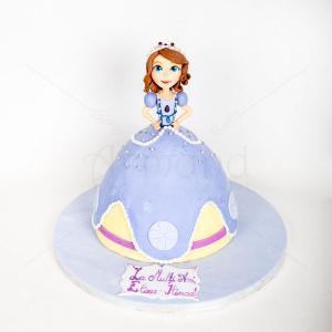 Tort printesa Sofia 3D
