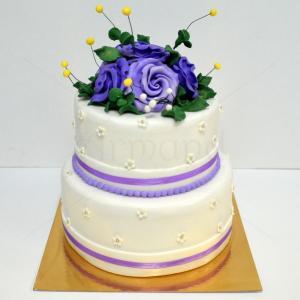 Tort nunta Purple roses