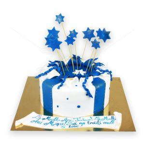 Tort Cadou albastru cu stelute