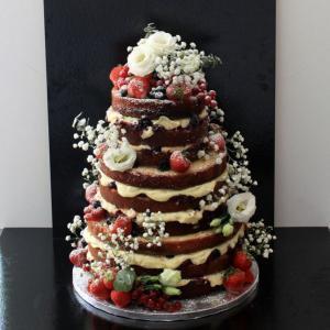Naked cake flori naturale