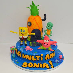 Tort Sponge Bob si prietenii