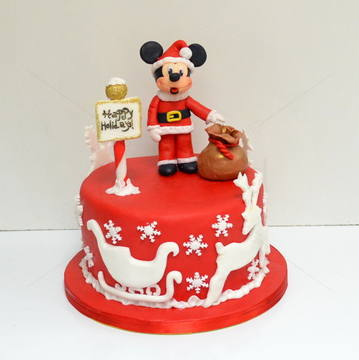 Tort Mickey Mouse Mos Craciun