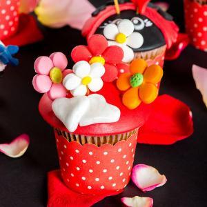 Cupcake Flori multicolore