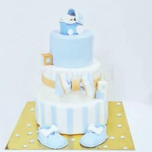 Tort botez Detalii Bleu Ciel