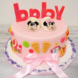 Tort botez Botosei Minnie Mouse