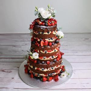 Naked Cake - Ciocolata si capsuni