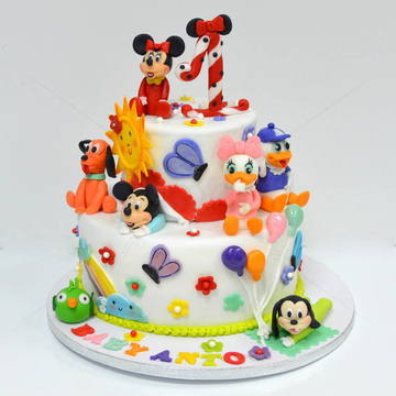 Tort Clubul Baby Mickey Mouse