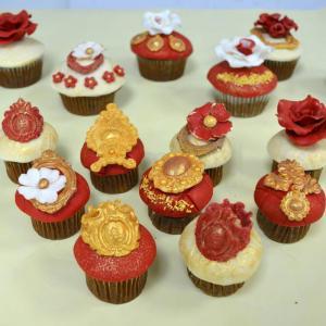 Mini Cupcake Coronite bordo