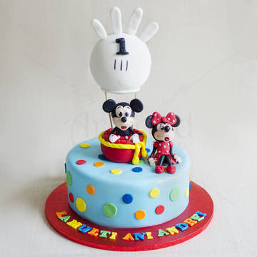 Tort Mickey si Minnie in balon