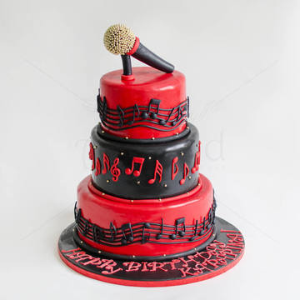 Tort Microfon si note muzicale