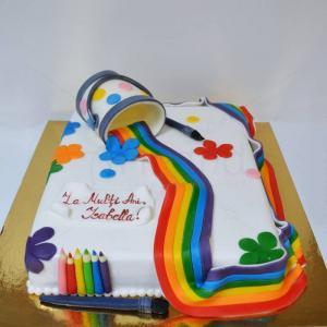 Tort Culori curcubeu