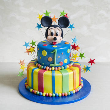 Tort Mickey Mouse si stelute