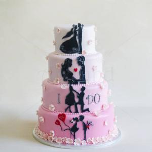 Tort Poveste siluete roz
