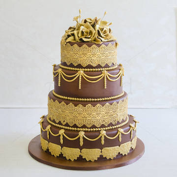 Tort Chocolate and Gold