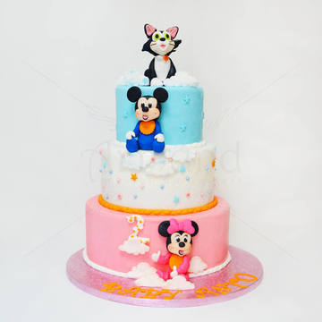 Tort Baby Mickey, Minnie si Silvester