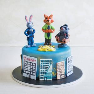 Tort Zootopia figurine