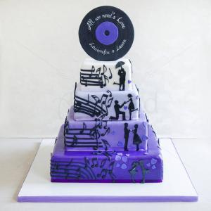 Tort Note muzicale si siluete