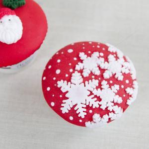 Cupcake Rosu fulg de nea
