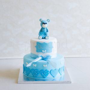 Tort Ursulet inimioare bleu