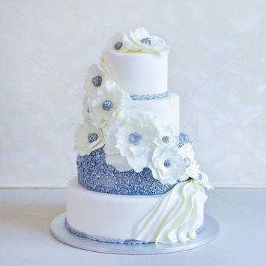 Tort Nunta Flori argintii
