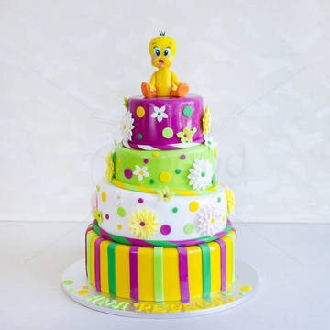 Tort pentru Copii Multicolor Tweety