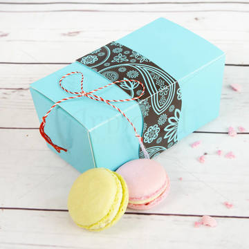 Cutie Turquoise 6 Macarons Martisor