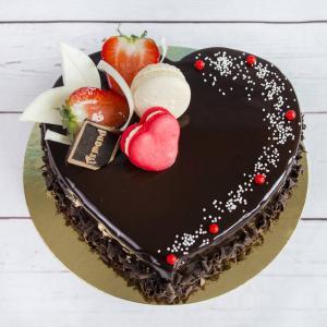 Tort Inima Ciocolata si capsuni