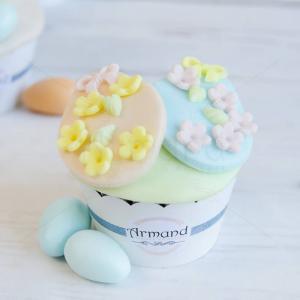 Cupcake culori pastel Oua Paste